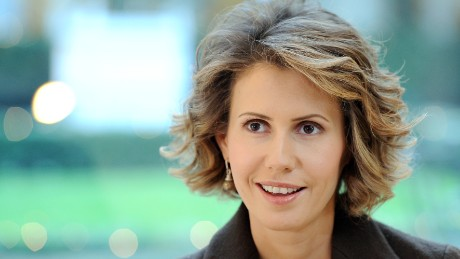 A picture taken on December 11, 2010 shows Syrian First Lady Asma al-Assad speaking at the Bristol Hotel in Paris.