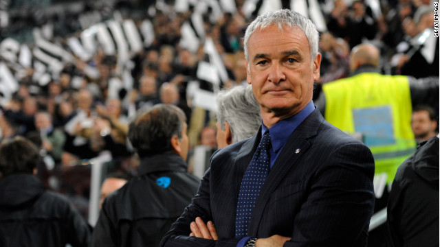 Claudio Ranieri watches on as his Inter team slip to a 2-0 defeat to Juventus in his final game in charge.