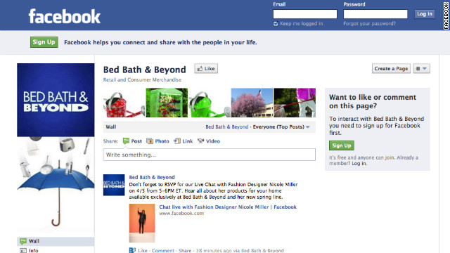 Retailer Bed Bath & Beyond is responsive to customers who post questions on its Facebook page, a new survey found.