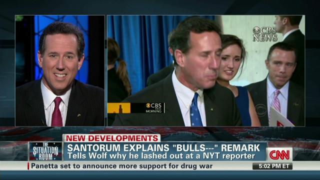 Santorum explains bulls*#* remark
