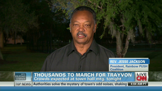 Rev. Jackson discusses Martin rallies