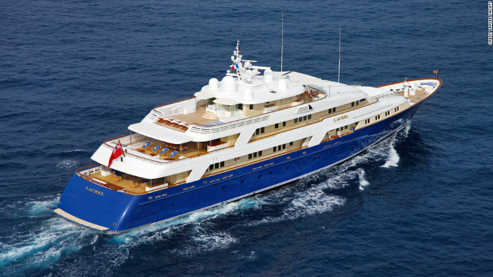 The second most expensive vessel on Fraser Yachts charter portfolio, Laurel is available for €479,000 ($639,000) a week.