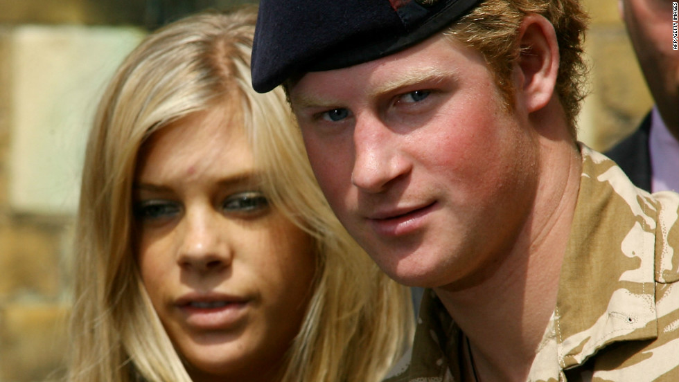 May 2008: Prince Harry is pictured with ex-girlfriend Chelsy Davy leaving a service of remembrance and thanksgiving at a church in Windsor, England.