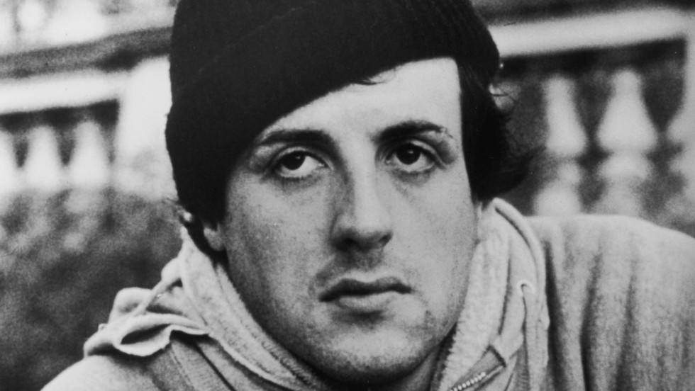 "Sylvester Stallone wears a hoodie in a still from the 1976 film ""Rocky."""