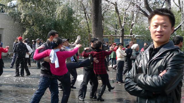 Fu Da Wei teaches dance at Purple Bamboo park.