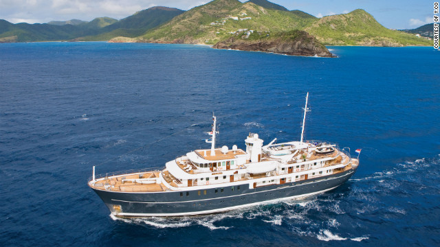Sherakahn is a former commercial vessel that has been transformed into a luxury yacht.