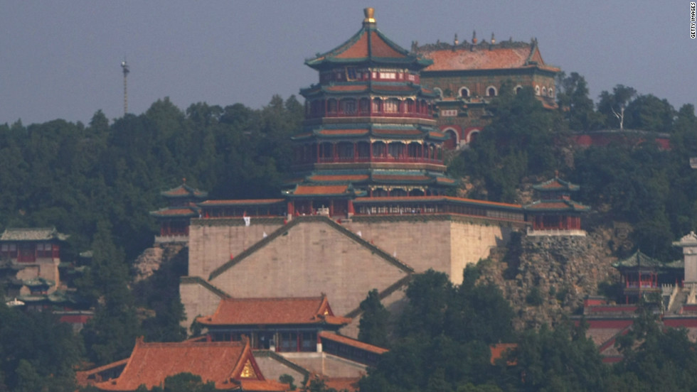 The Summer Palace, pictured from Kunming Lake, was first built in 1750. It was mostly destroyed in the war of 1860 and rebuilt in its original location in 1886.