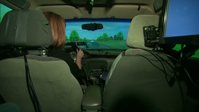 Behind the wheel of a distracted driver