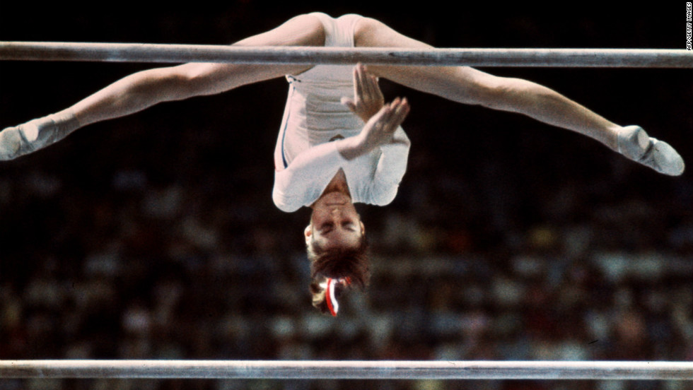 Her effort in the discipline was the first unblemished score in gymnastics during an Olympic competition.