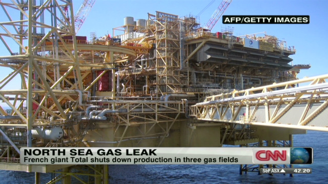 Major gas leak in the North Sea
