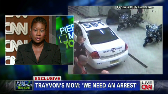 Martin's mother on arrest video