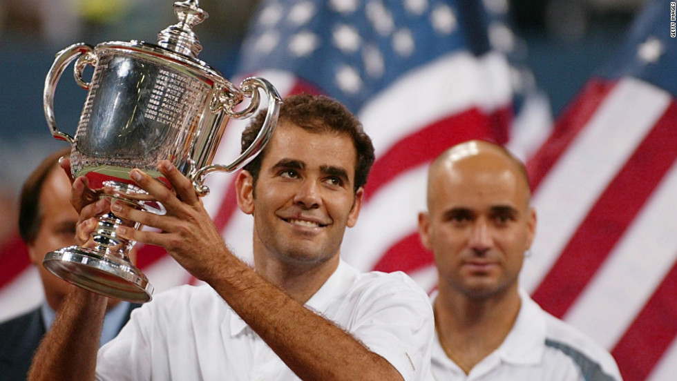 Sampras won his 14th grand slam in front of his home crowd, in his final tournament -- the 2002 U.S. Open.