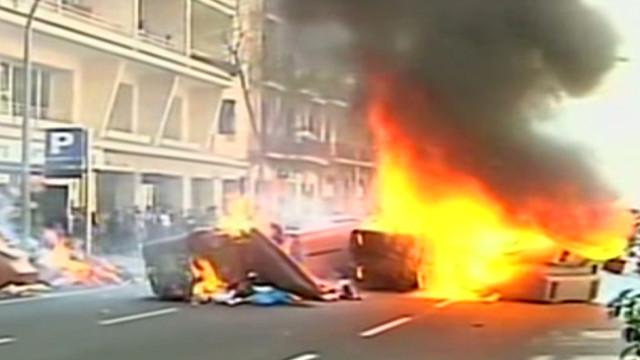 Arrests, injuries at strike in Spain