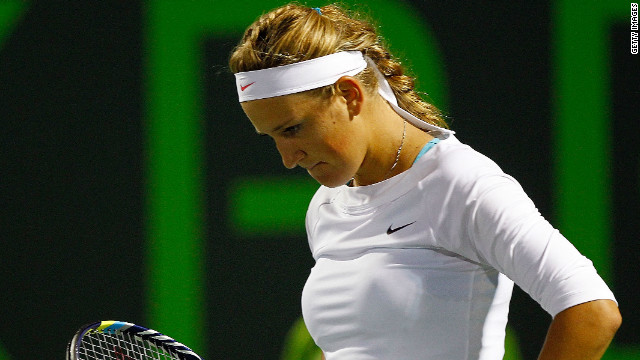 Victoria Azarenka rose to the top of the world rankings after winning January's Australian Open.