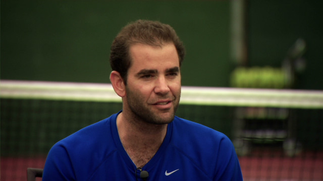 On court with Pete Sampras