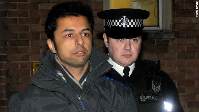 Shrien Dewani leaves Southmead Police station on December 12, 2010 in Bristol, England.