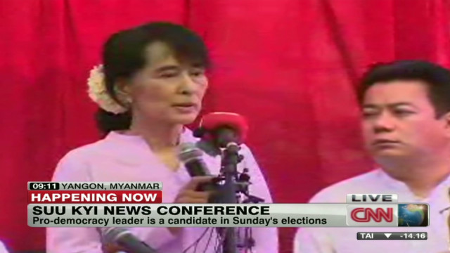 Suu Kyi news conference