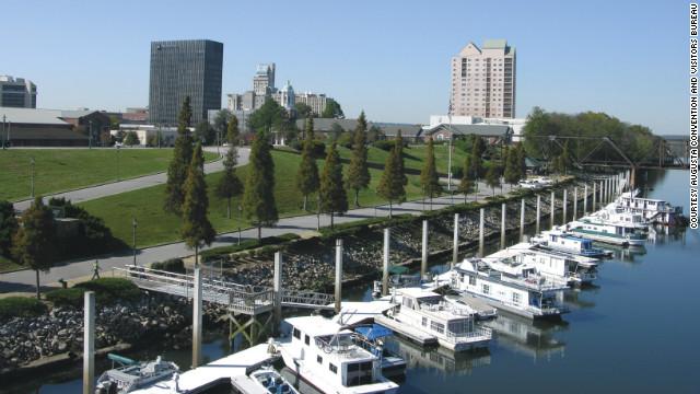 Augusta's Riverwalk provides a scenic promenade along the Savannah River.