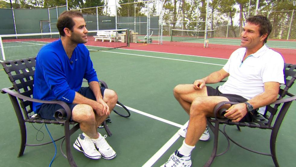 Tennis legend Pete Sampras met with his fellow Wimbledon champion Pat Cash, who is the host of CNN's Open Court show.