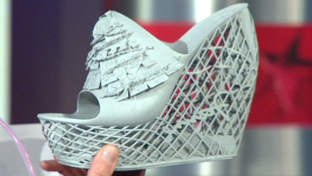 A 3-D printer created this shoe