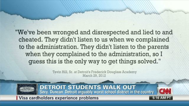 Perry: Detroit kids want good education