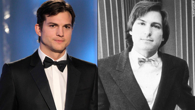 At 34, Ashton Kutcher, left, is 13 years older than Steve Jobs was when he co-founded Apple.