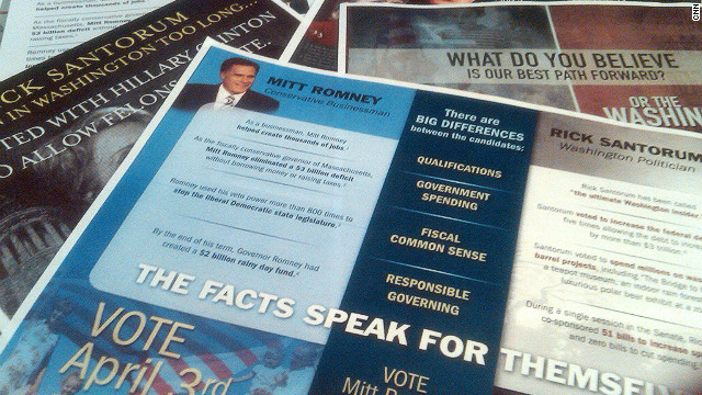 Voters in Wisconsin are sifting through a barrage of ads and mailers before Tuesday's GOP presidential primary.