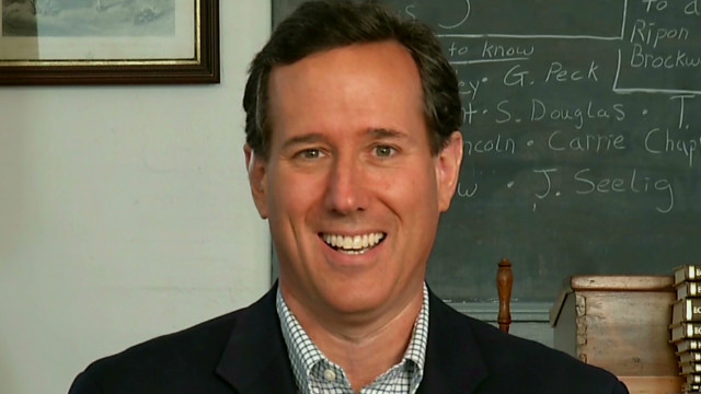 Rick Santorum talks bowling on the trail