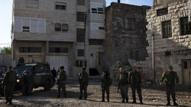 Jewish settlers occupied a house in the West Bank city of Hebron in late March.