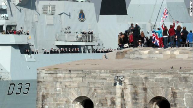 British warship sets sail for Falklands