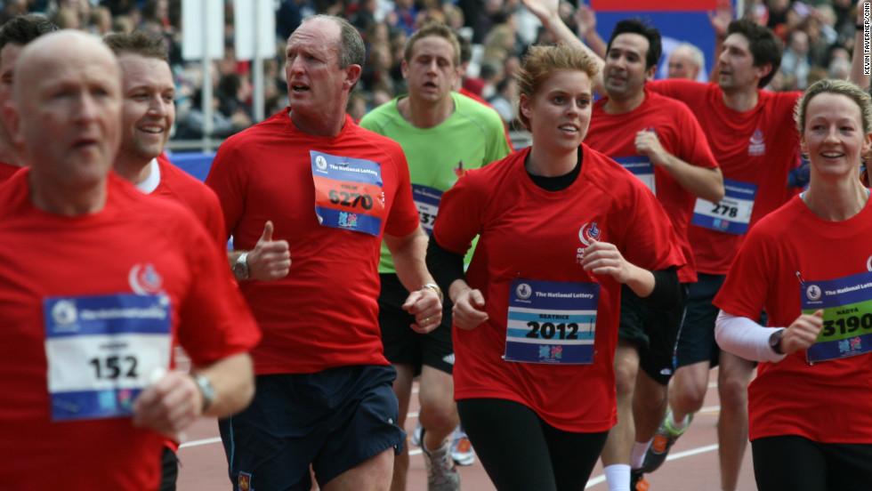 British royal family member Princess Beatrice (number 2012) also took part, alongside former Olympic and Paralympic athletes.