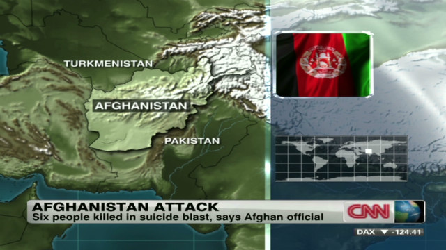 Suicide bomber strikes in Afghanistan