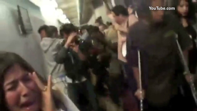 Students pepper-sprayed while protesting