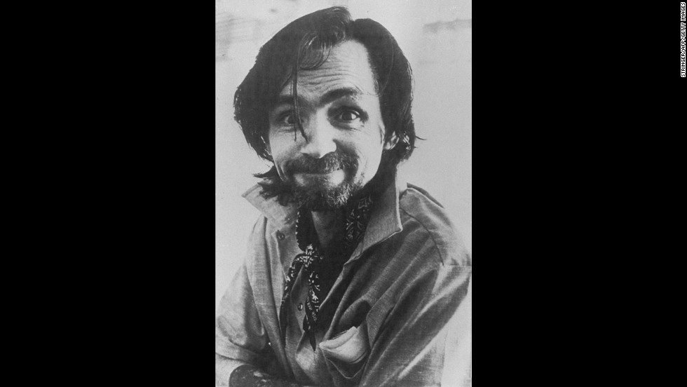 Manson smirks at the camera in this 1978 photo.