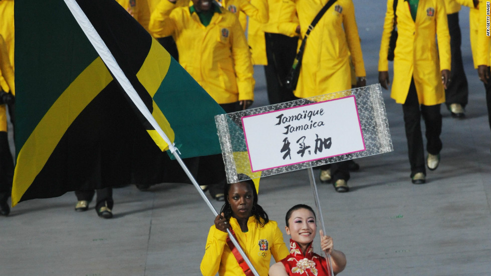 Her inspirational performances in Athens meant that she was asked to carry the flag for the Jamaican team at the opening ceremony for Beijing 2008.