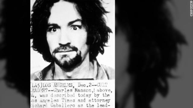 Manson's 1969 mugshot.