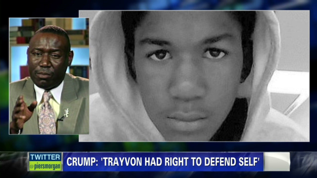 Crump: Trayvon had right to defend self
