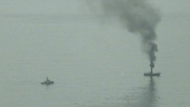 Coast Guard shells 'ghost ship'