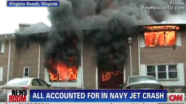 Up close look at Navy crash
