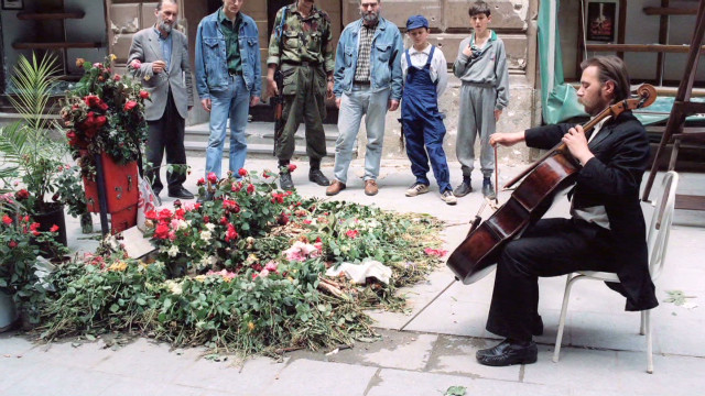 Remembering Sarajevo with the cello