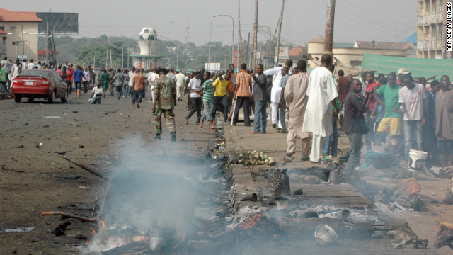 Dozens of people were killed in an explosion in the northern Nigerian city of Kaduna on Sunday.