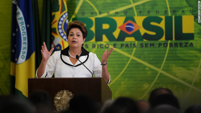 Brazilian President Dilma Rousseff, shown in Brasilia last week, met with President Obama in Washington on Monday.