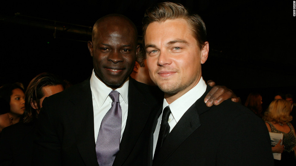 "Appearing alongside Leonardo DiCaprio in ""Blood Diamond,"" Hounsou won rave reviews for his portrayal of a fisherman forced to work in a diamond mine after being captured by rebels."