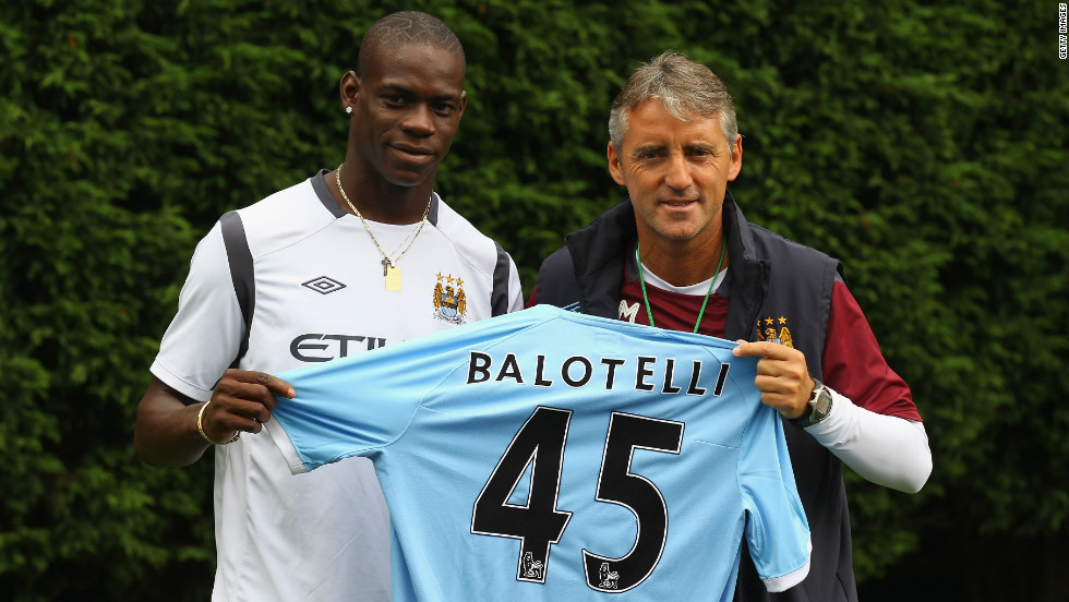 Man City signed Balotelli from Inter for £24m in August 2010. The deal was made under manager Robert Mancini who this week hinted the player may be sold unless he reels in his controversial behavior.