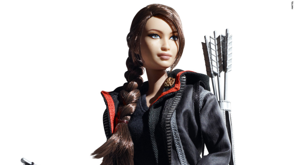 """The Hunger Games'"" Katniss Everdeen is the latest pop culture heroine to get the plastic treatment. <a href=""http://www.barbiecollector.com/shop/doll/hunger-games-katniss-doll-w3320"" target=""_blank"">The doll </a>-- sporting Everdeen's signature braid, mockingjay pin and bow and arrows -- was released on Monday, and will be available come August. Click through to see other Barbie dolls inspired by popular movies and TV series."