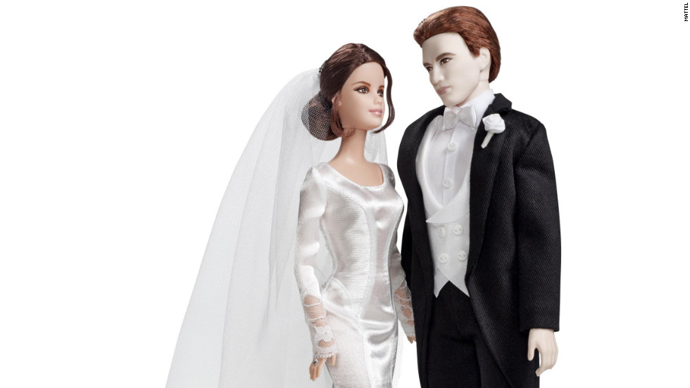 """Twilight"" has inspired quite a few Barbie dolls since 2009, shortly after the first film's November 2008 debut. The most recent installment, ""Breaking Dawn -- Part 1,"" called for a wedding-ready Edward and Bella, who dons a miniature version of the Carolina Herrara gown Kristen Stewart wore in the film."