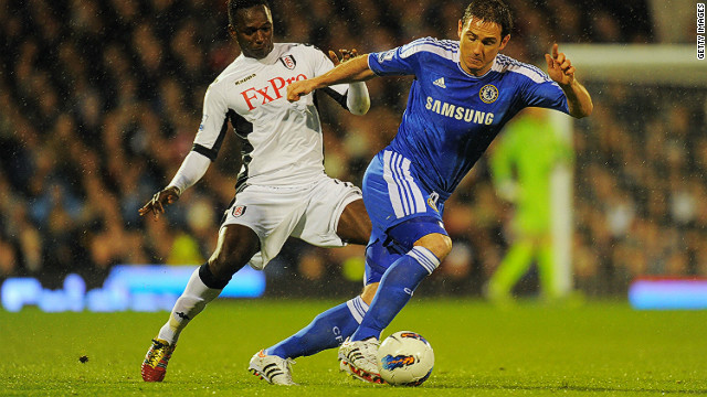Chelsea's Frank Lampard netted his 150th English Premier League goal against Fulham on Monday night