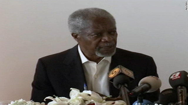 Annan: Time for Syria violence to stop