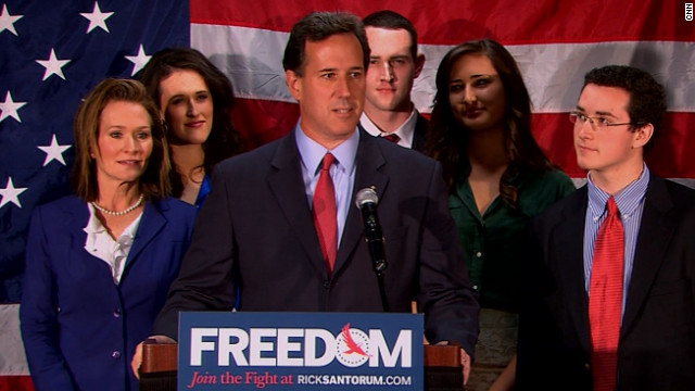 Santorum out, clearing path for Romney