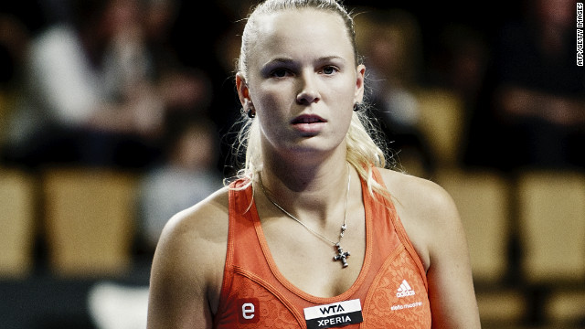Caroline Wozniacki is feeling the weight of home expectation in the hard court tournament in Copenhagen.